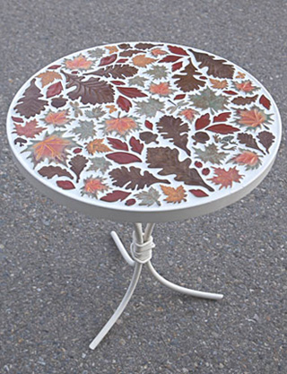 Mosaic table 001 sold mr 1928 model t mosaic tile table with dragon